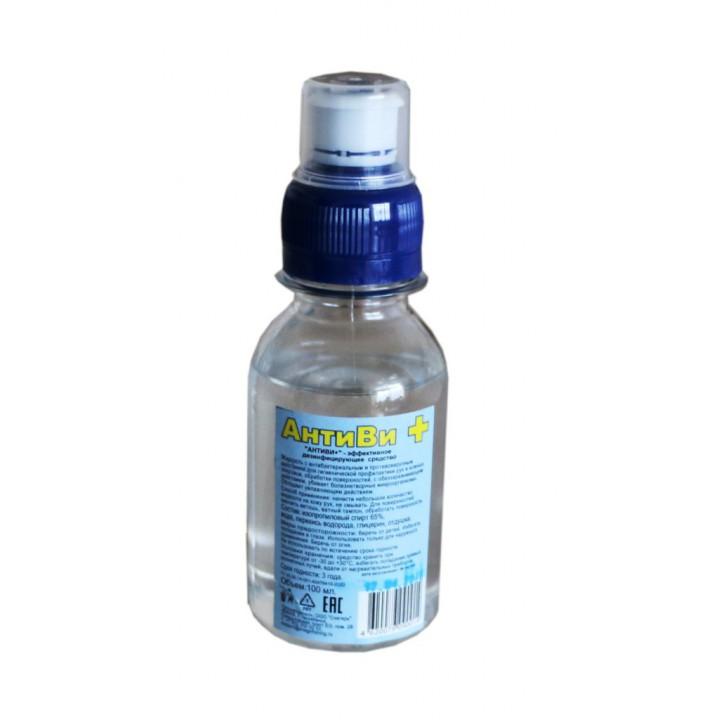 """""""АНТИВИ+"""" от 30 шт. - антисептическое средство 100 мл. Крышка дозатор."""