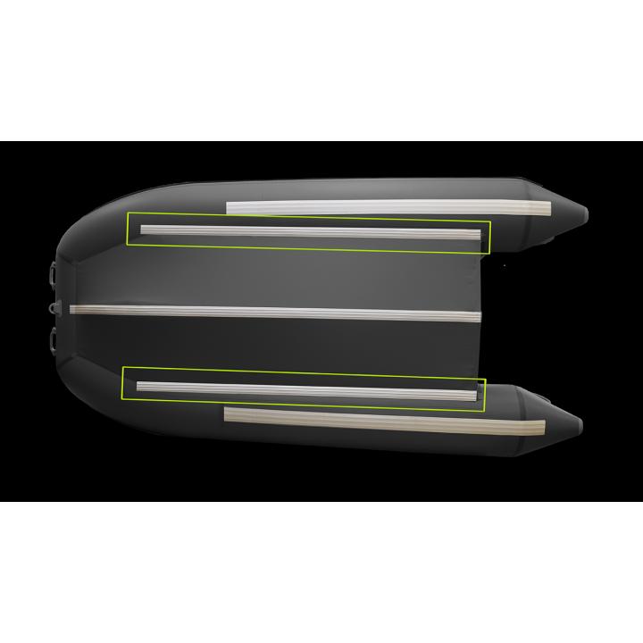 Защита (усиление) днища лодок с жестким полом по стрингерам (привал 60мм)